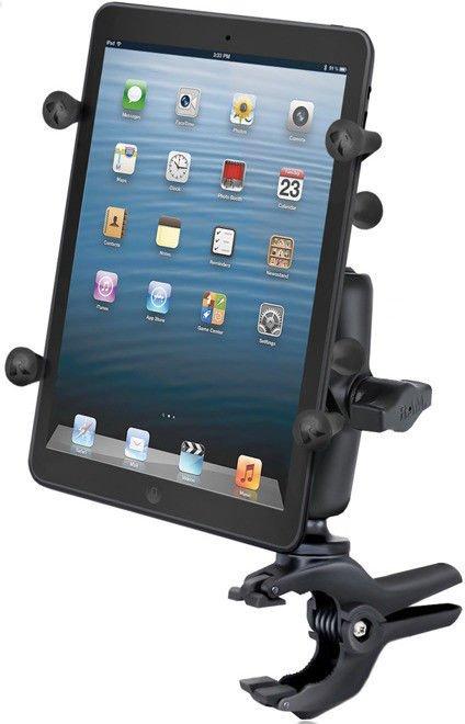 Uchwyt X-Grip II™ do małych tabletów z klamrą zaciskową RAM Tough-Clamp™.