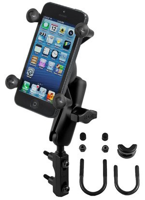 RAM Mount uchwyt do Apple iPhone X X-Grip™ montowany do ramy kierownicy lub do podstawy hamulca / sprzęgła w motocyklu
