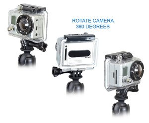 RAM Mount uchwyt do kamer GoPro HERO4 SESSION z klamrą zaciskową RAM Tough-Claw™